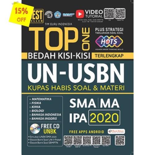 Foto Produk TOP ONE BEDAH KISI-KISI TERLENGKAP UN-USBN SMA IPA 2020 dari Toko Kutu Buku