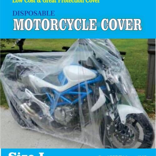 Foto Produk COVER MOTOR TRANSPARAN/DISPOSABLE PLASTIC MOTOCYCLE COVER - Clear /Bening, XXL dari Ekspan30