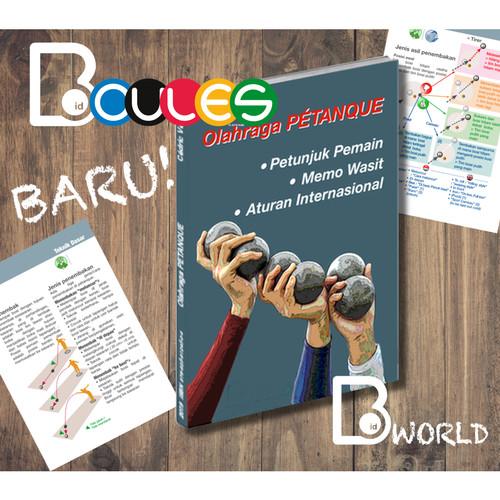 """Foto Produk Buku : """"Olahraga PETANQUE"""" Petunjunk - Memo - Aturan dari Boules-id"""