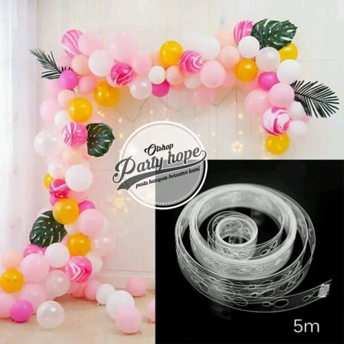 Foto Produk Stripe Tape Balon Dekorasi / Strip Balon Arch Garland Dekorasi balon dari PARTY HOPE 2