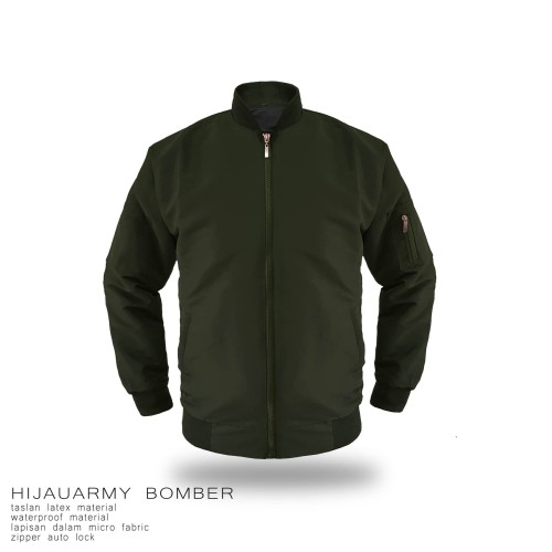 Foto Produk JAKET BOMBER TASLAN POLOS (ARMY, MARON, HITAM, NAVY. GREY) - Abu-abu, S dari bosku.apparel