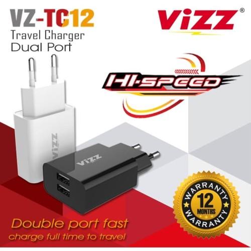 Foto Produk Charger VZ-TC12 Travel Charger VIZZ Dual Port dari Vizz Official Store
