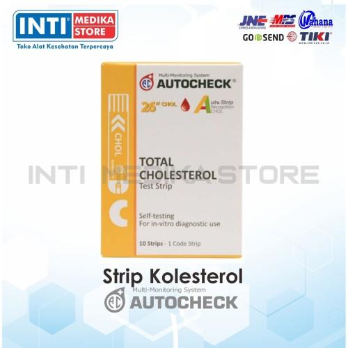 Foto Produk Strip Pengecekan / Strip AUTOCHECK Cholestrol 10 Strip dari INTI MEDIKA STORE