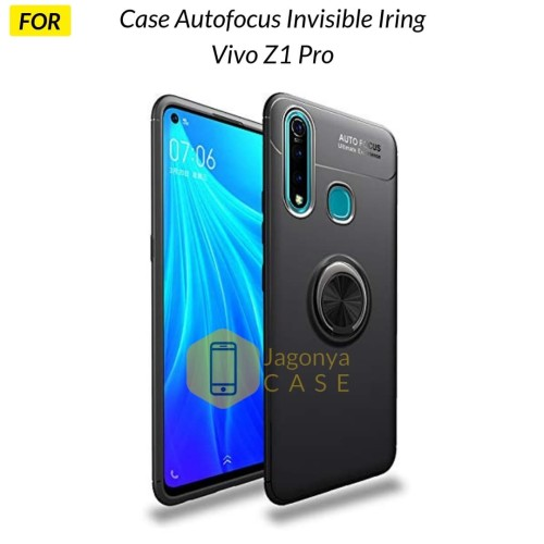 Foto Produk Case VIVO Z1 PRO Autofocus Invisible Iring Soft Case - Hitam dari Jagonya Case