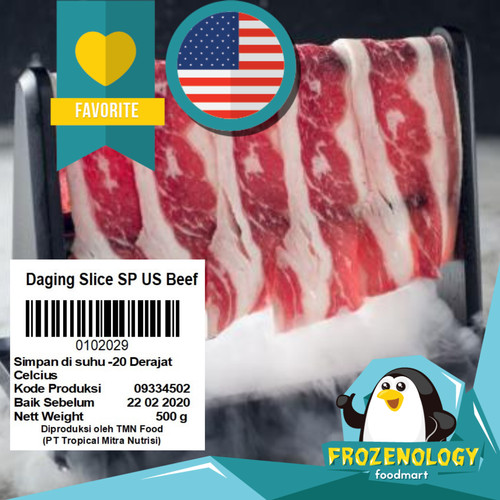 Foto Produk 100% USA Beef Bifuyaki Yakiniku Shabu Sukiyaki Daging Slice Siap Kirim dari frozenology