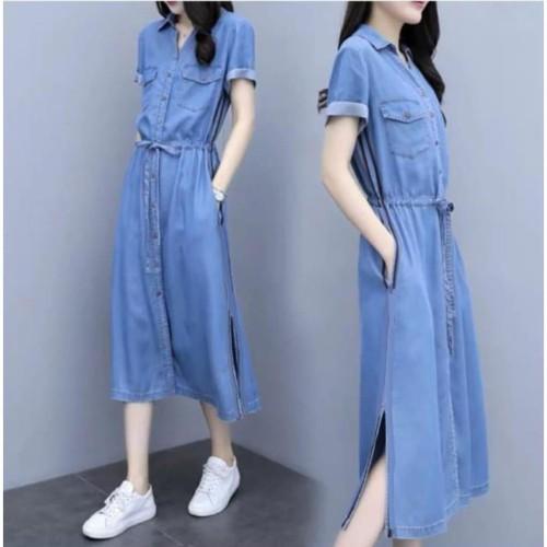 Foto Produk damai fashion jakarta - baju long DRESS wanita RATIH - konveksi tanah dari LV.co Tanah abang