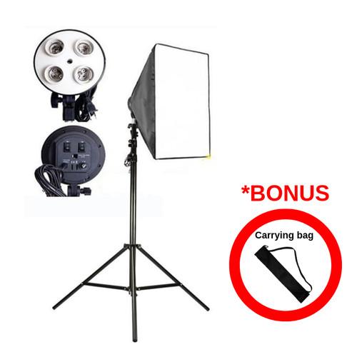Foto Produk Lampu Studio Foto | Paket Softbox E27 + TIANG | GOOD QUALITY dari pixmix