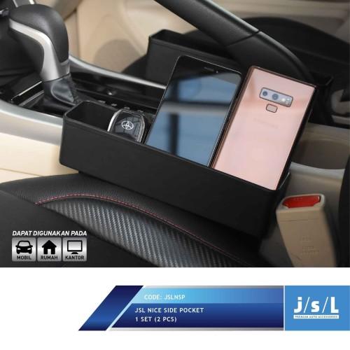 Foto Produk JSL Holder Samping Mobil Nice Pocket Tempat HP Power Bank Multifungsi dari Autotivo