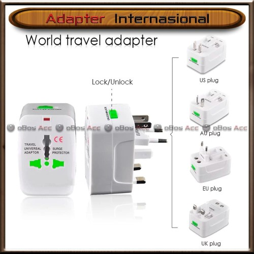 Foto Produk Adapter Internasional Travel Adaptor Universal Colokan Charger UK USA dari oBos Acc