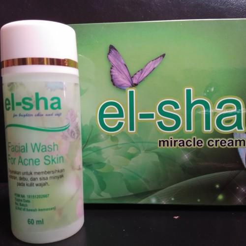 Foto Produk Facial Wash Acne Elsha ORI 100% dari el-sha miracle cream