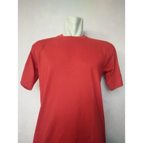 Foto Produk Kaos Polos Katun Combed 24s Lengan Pendek Merah dari Cahaya Mandiri Group