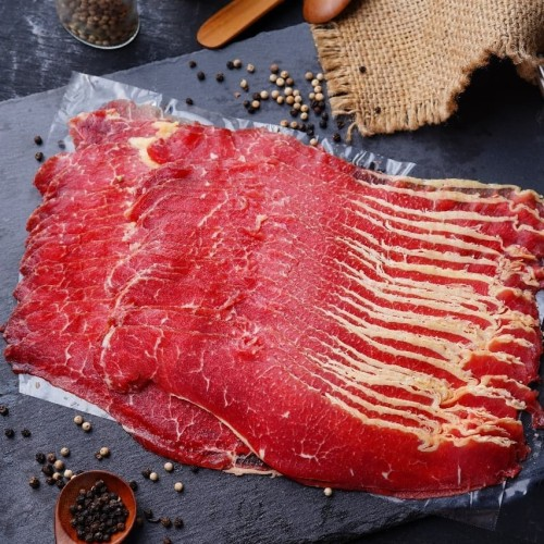 Foto Produk Daging sapi Aus brisket slice beef / yakiniku / sukiyaki / shabu beef dari Friday Meat Shop