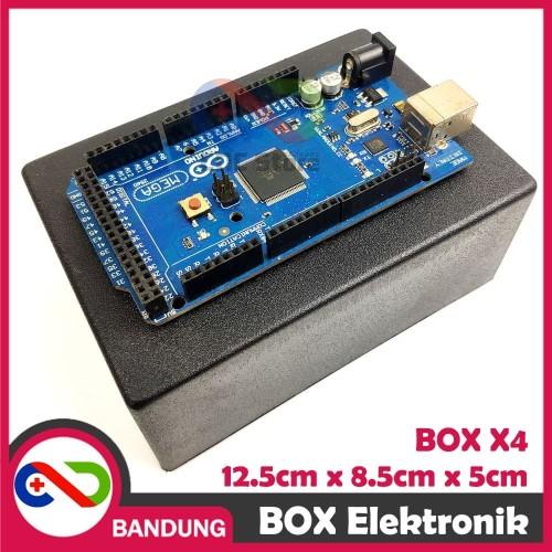 Foto Produk BOX ELEKTRONIK X4 KOTAK RANGKAIAN ARDUINO 12.5x8.5x5 CASING BLACK X-4 dari CNC STORE BANDUNG