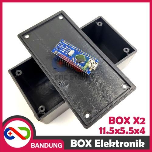 Foto Produk BOX ELEKTRONIK X2 KOTAK RANGKAIAN ARDUINO 11.5x5.5x4 CASING BLACK BOX dari CNC STORE BANDUNG