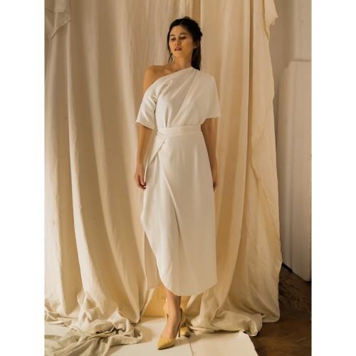 Foto Produk ARLENE WRAP DRESS - BROKEN WHITE - S dari At Vezzo