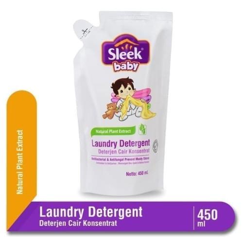 Foto Produk Sleek Baby Laundry Detergent 450ml Pouch / Sabun Pencuci Pakaian Bayi dari Tokopedia Baby Shop