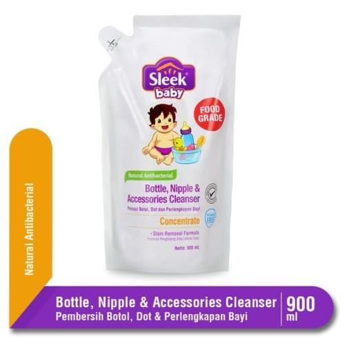 Foto Produk SLEEK BABY BOTTLE CLEANSER 900ML POUCH / Pencuci Botol Bayi dari Tokopedia Baby Shop