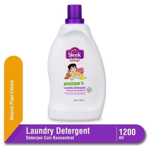 Foto Produk Sleek Baby Laundry Detergent Botol 1200 ml / Sabuh Pencuci Pakaian dari Tokopedia Baby Shop