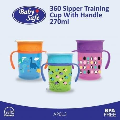 Foto Produk Baby Safe AP013 360 Sipper Cup With Handle 270 ml - Gelas Anti Tumpah dari Tokopedia Baby Shop