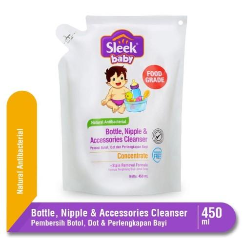 Foto Produk SLEEK BABY BOTTLE & NIPPLE CLEANSER POUCH 450ML dari Tokopedia Baby Shop