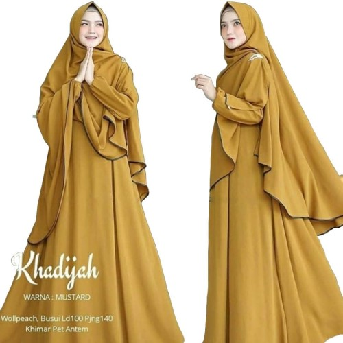 Foto Produk KHADIJAH SYARI | BAJU GAMIS SYARI | SETELAN HIJAB MODERN dari B.O.M baju Online murah1