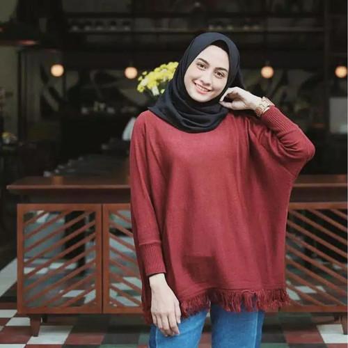 Foto Produk Raida Blouse Baju Perempuan Atasan Rawis Lengan Panjang Kekinian dari wiigan55
