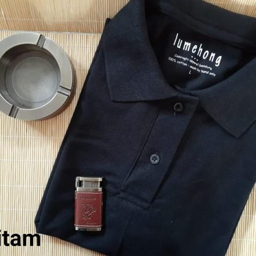Foto Produk kaos polo shirt polos wangky kerah pria size XXL 2XL - XXL, hitam twotone dari Kerry Onlineshop