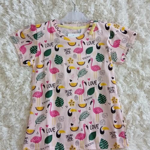 Foto Produk kaos anak perempuan flaminggo 132 dari anak mama lpg