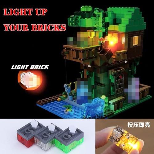 Foto Produk Lego Bricks Lampu LED Parts For Minecraft My Wolrd Building Blocks1pcs dari MISSBLOCK