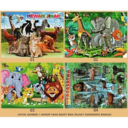 Foto Produk Puzzle Jigsaw Karton Karakter Mengenal Hewan (20 X 25) dari Bursa KauKau