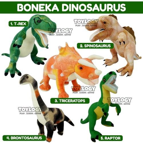 Foto Produk Boneka Dinosaurus Trex Raptor Brontosaurus Dino Dinosaur Plush Doll dari Toylogy