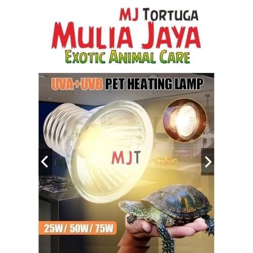 Foto Produk 50w Lampu Reptile UVA UVB 3.0 dari mulia jaya tortuga
