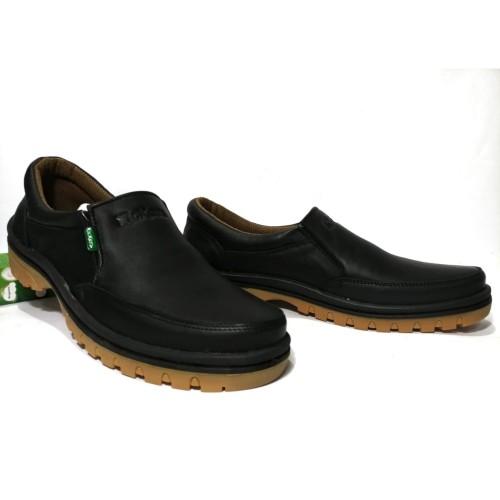 Foto Produk Sepatu casual pria bahan kulit asli merek kickers elegan - Hitam, 39 dari mafia sepatu kulit