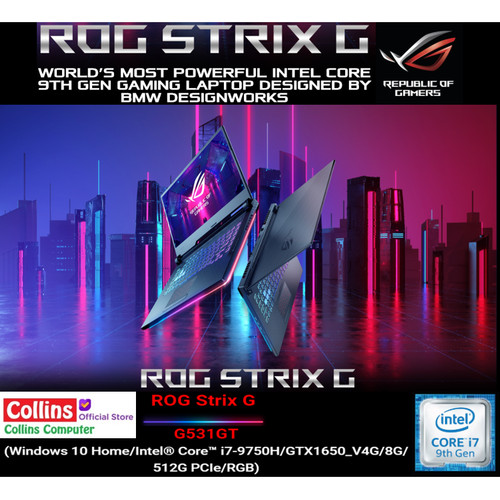 Foto Produk ASUS ROG STRIX III G531GT-I765G1T i7-9750H|8GB|512GB|GTX1650 4GB|120HZ dari Collins Official