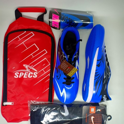 Foto Produk PAKET KOPMLIT SEPATU FUTSAL SPECS GARUDA ATTACK - Biru, 38 dari sepatu sport 123
