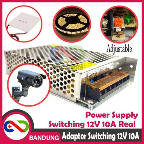 Foto Produk ADAPTOR 12V 10A POWER SUPPLY SWITCHING JARING PELTIER CCTV LED STRIP dari CNC STORE BANDUNG
