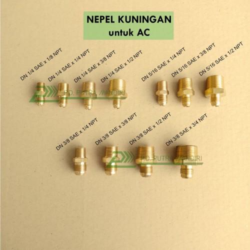 Foto Produk Dobel Nepel 1/4 SAE x 1/4 NPT Kuningan - (Double Nipple) dari PUTRA MANDIRI HYDRAULIC