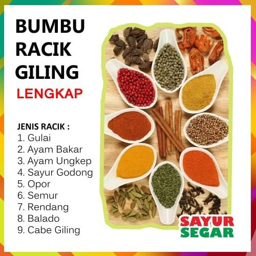 Foto Produk BUMBU RACIK GILING - LENGKAP [1 Pack] - Ayam Bakar dari SAYUR SEGAR   Official