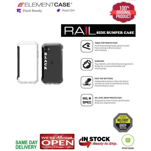 Foto Produk iPhone 11 / 11 Pro / 11 Pro Max Case Original ElementCase RAIL - Clear Black, iPhone 11ProMax dari Spigen Indonesia