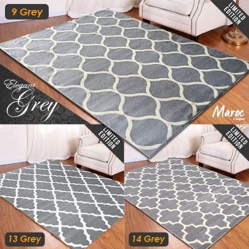 Foto Produk [Carpet Shop ID] Karpet Maroc Super Grey 160X210 - 06 GREY dari Carpet Shop Indonesia