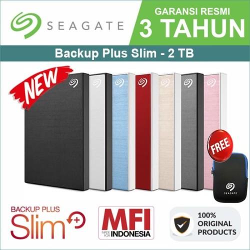 Foto Produk Seagate Backup Plus Slim 2TB - HDD / HD / Hardisk / Harddisk External - Silver dari Trinity Plaza