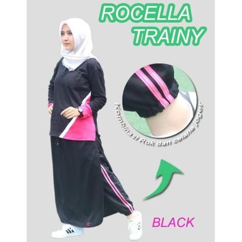 Foto Produk Rocella Trainy Rok Celana Olahraga Muslimah Trendy (S-M & L-XL) - Hitam dari One Shop id