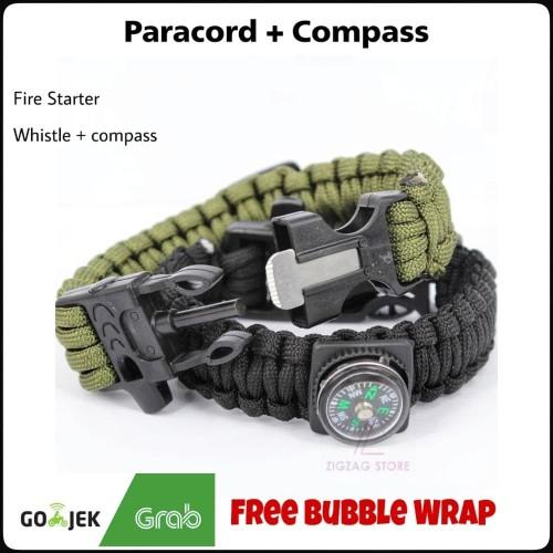 Foto Produk Gelang Paracord + Compass + Pemantik Api + Peluit dari ZigZag-Store