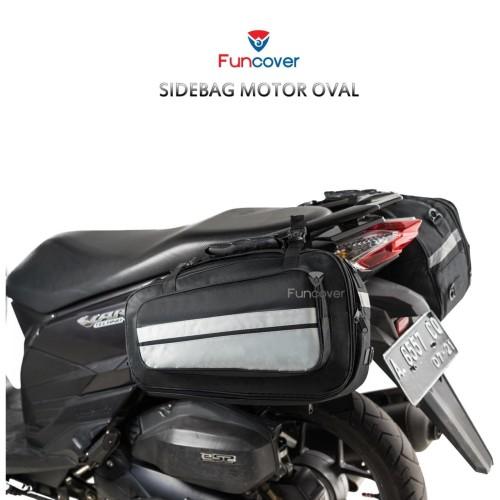 Foto Produk Sidebag motor Side Bag Oval Tas Samping Motor Waterproof Funcover - Biru dari lbagstore