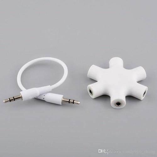 Foto Produk Splitter Audio 6 Port Female Adapter 1 Input 5 Output|5 Input 1 Output dari Y42N.ACC