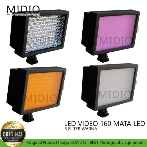 Foto Produk Video LED Taffware Lighting Kamera 160 LED dari Midio