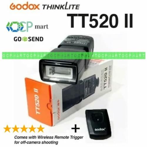 Foto Produk Flash GODOX TT520 II Wireless Trigger Speedlite Kamera DSlr Mirrorless dari ocp mart