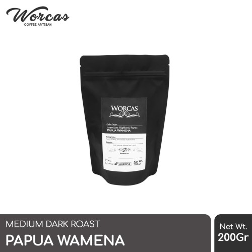 Foto Produk Kopi Arabica Papua Wamena 200 Gram (Biji/Bubuk)   Worcas Coffee - KOPI BIJI dari WORCAS COFFEE