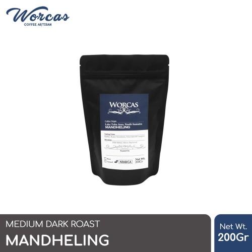 Foto Produk Kopi Arabica Mandheling 200 Gram (Biji/Bubuk) | Worcas Coffee - KOPI BIJI dari WORCAS COFFEE