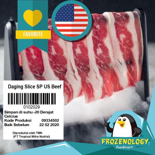 Foto Produk USA Sliced Beef / Daging Sapi Lapis Iris Grill Gyudon Ramen Niku Udon - SLICE USA 205 dari frozenology
